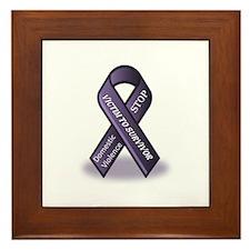 Domestic Violence Victim to Suvivor Framed Tile