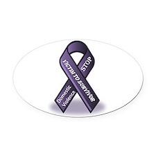 Domestic Violence Victim to Suvivor Oval Car Magne