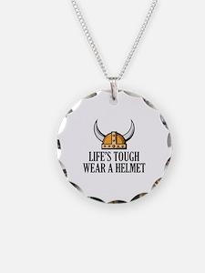 Wear A Helmet Necklace