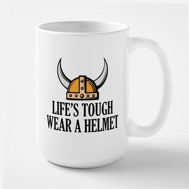 Wear A Helmet Ceramic Mugs