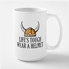 Wear A Helmet Large Mug