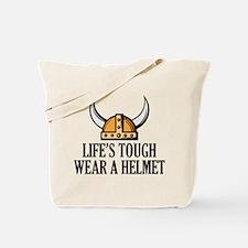 Wear A Helmet Tote Bag