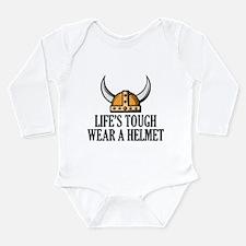 Wear A Helmet Long Sleeve Infant Bodysuit