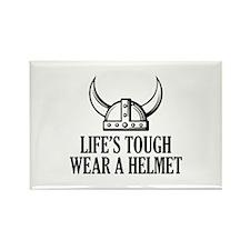 Wear A Helmet Rectangle Magnet