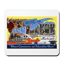 Ann Arbor Michigan Greetings Mousepad