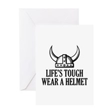 Wear A Helmet Greeting Card