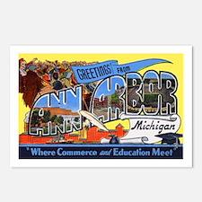 Ann Arbor Michigan Greetings Postcards (Package of