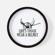 Wear A Helmet Wall Clock