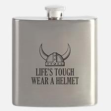 Wear A Helmet Flask