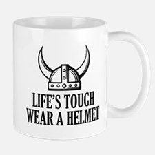 Wear A Helmet Small Mugs