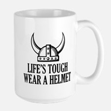 Wear A Helmet Ceramic Mugs