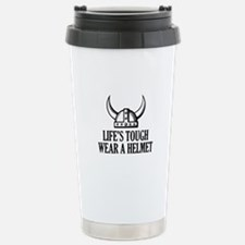 Wear A Helmet Travel Mug