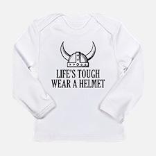 Wear A Helmet Long Sleeve Infant T-Shirt