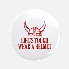 "Wear A Helmet 3.5"" Button"