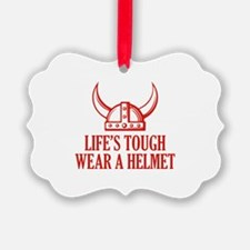 Wear A Helmet Ornament