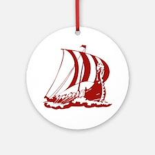 Viking Ship Ornament (Round)