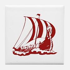 Viking Ship Tile Coaster