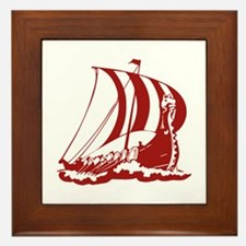 Viking Ship Framed Tile