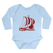 Viking Ship Long Sleeve Infant Bodysuit