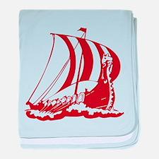 Viking Ship baby blanket