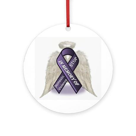 Domestic Violence Angel Ornament (Round)