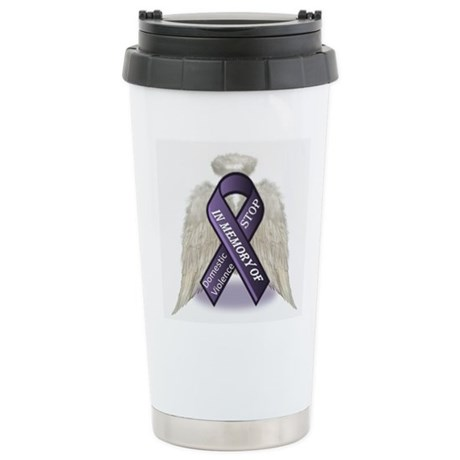 Domestic Violence Angel Stainless Steel Travel Mug