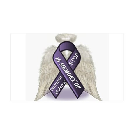 Domestic Violence Angel 35x21 Wall Decal