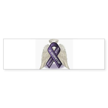 Domestic Violence Angel Sticker (Bumper)