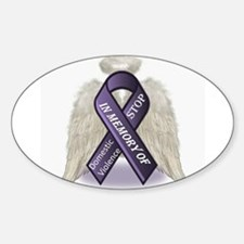 Domestic Violence Angel Sticker (Oval)