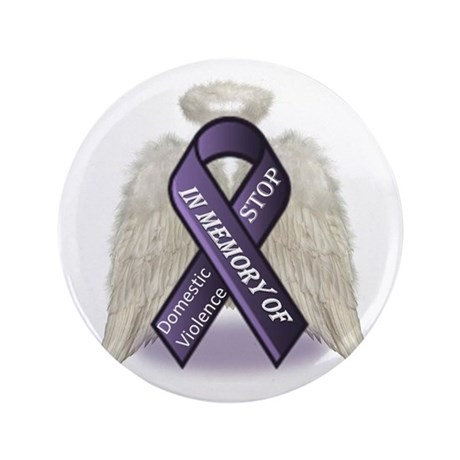 "Domestic Violence Angel 3.5"" Button (100 pack)"