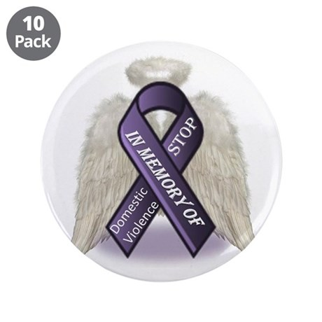 """Domestic Violence Angel 3.5"""" Button (10 pack)"""