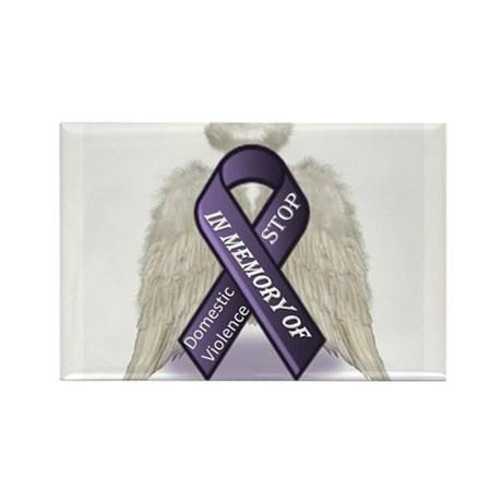 Domestic Violence Angel Rectangle Magnet (100 pack