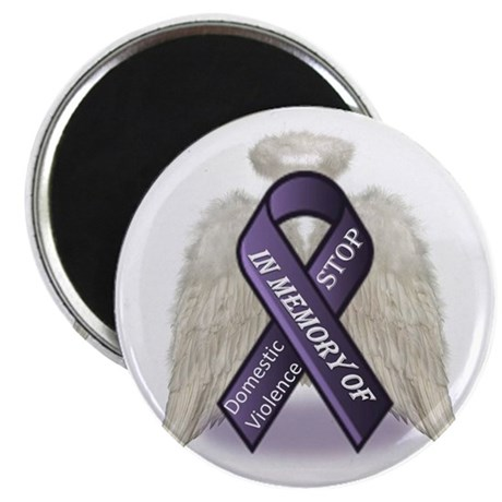 "Domestic Violence Angel 2.25"" Magnet (100 pack)"