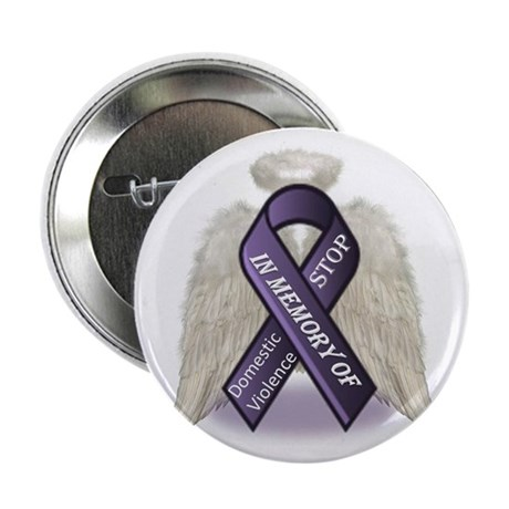 """Domestic Violence Angel 2.25"""" Button (100 pack)"""