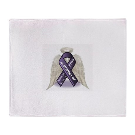 Domestic Violence Angel Throw Blanket