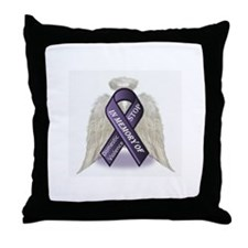 Domestic Violence Angel Throw Pillow