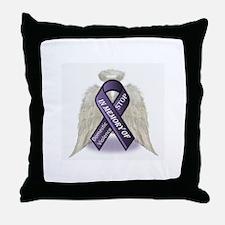 Domestic Violence Angel Throw Pillow
