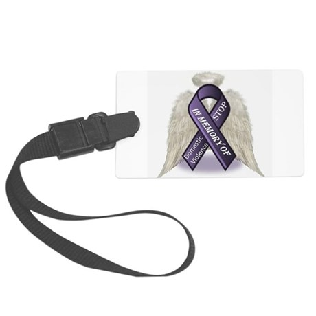 Domestic Violence Angel Large Luggage Tag