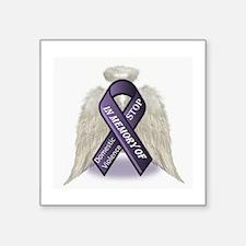 """Domestic Violence Angel Square Sticker 3"""" x 3"""""""