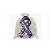 Domestic Violence Angel Rectangle Car Magnet