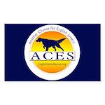 ACES Rectangle Sticker