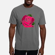 Deep Sunset Rose Mens Comfort Colors Shirt