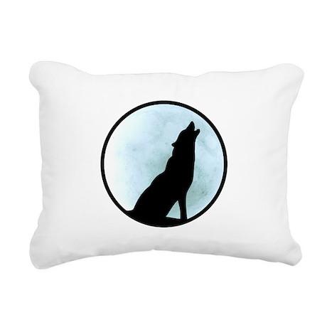 Wolf Howl Rectangular Canvas Pillow