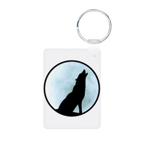Wolf Howl Aluminum Photo Keychain
