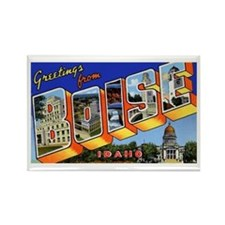 Boise Idaho Greetings Rectangle Magnet