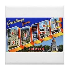 Boise Idaho Greetings Tile Coaster