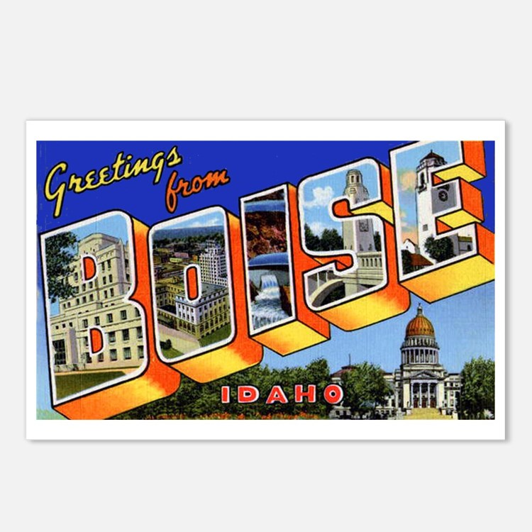 Boise Idaho Greetings Postcards (Package of 8)