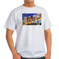 Boise Idaho Greetings (Front) Ash Grey T-Shirt