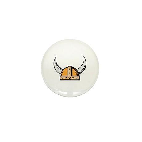 Viking Helmet Mini Button