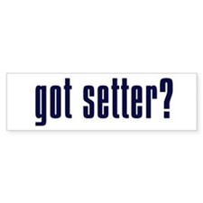 White/Navy Got Setter? Bumper Bumper Sticker